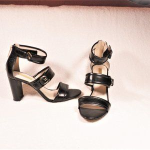 Louise Et Cie  Black Leather Sandals